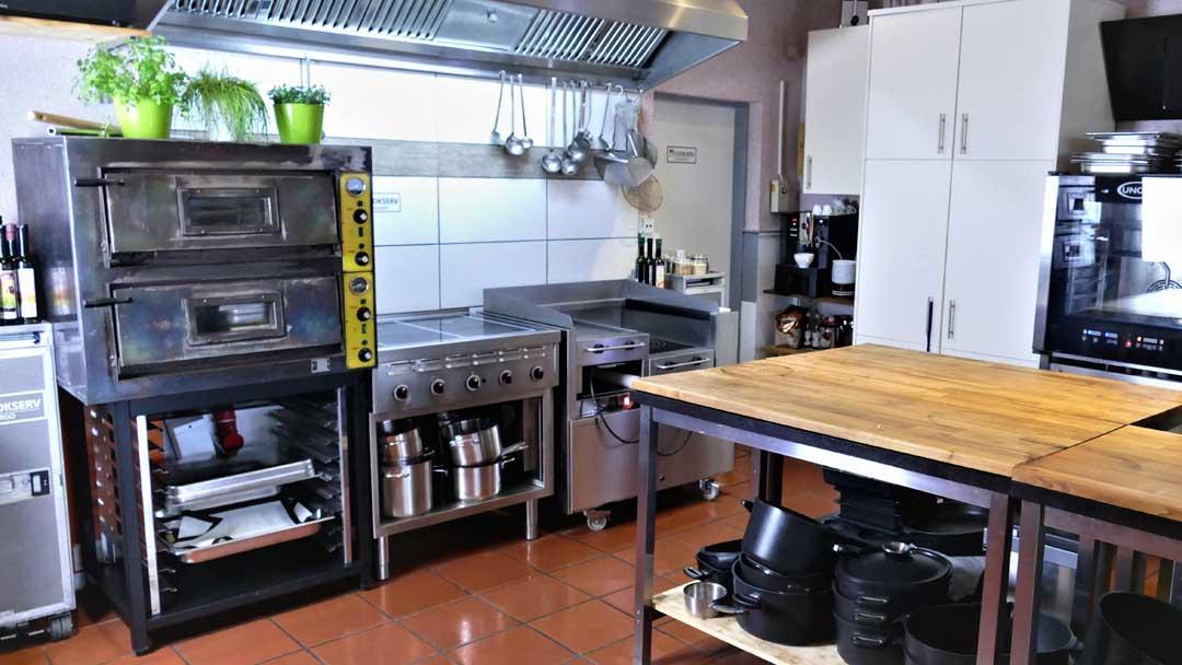 Kochstationen in der Kochschule