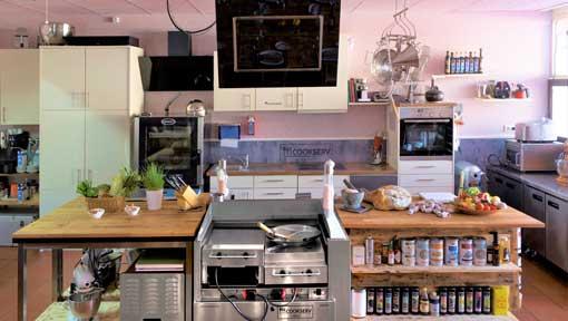 Mobile Livecookingstation in der Kochlocation